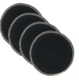 BreastPads Wasbare Zoogcompressen - Zwart - 4 stuks