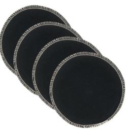 BreastPads Wasbare Zoogcompressen - Zwart
