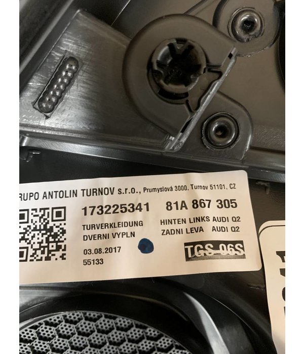 Audi Q2 Deurpaneel Links Achter 81A867305