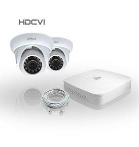 Dahua Compleet HDCVI Pakket met 2 Bewakingscamera's