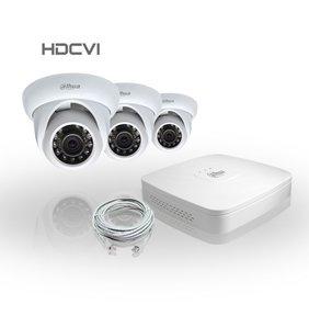 Dahua Compleet HDCVI Pakket met 3 Bewakingscamera's