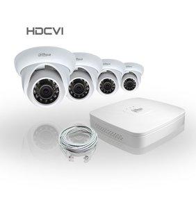Dahua Compleet HDCVI Pakket met 4 Bewakingscamera's