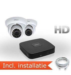 Dahua HD IP Pakket 2 Camera's Inclusief Installatie