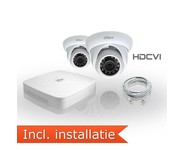 Dahua HDCVI Pakket 2 Camera's Incl. Installatie
