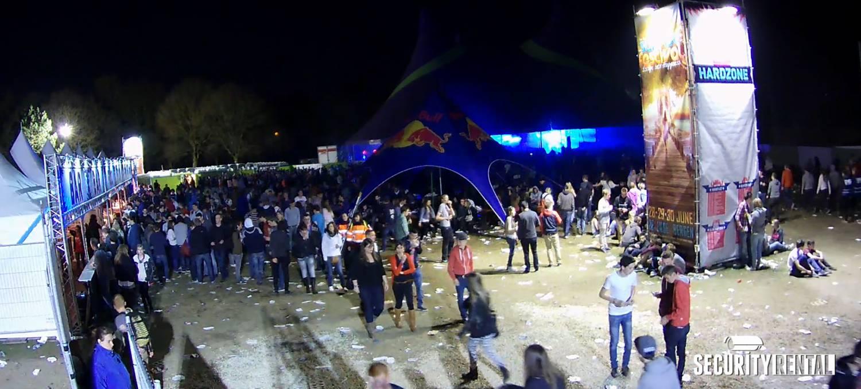 Huren van bewaking camera's bij evenementen en Festivals