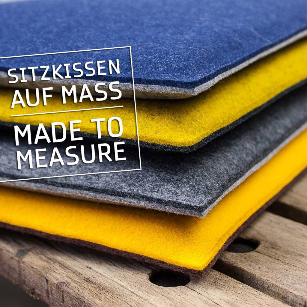 felt bench cushions made to measure padded for benches, chairs and stools, seat cousions stuffed, upholstered