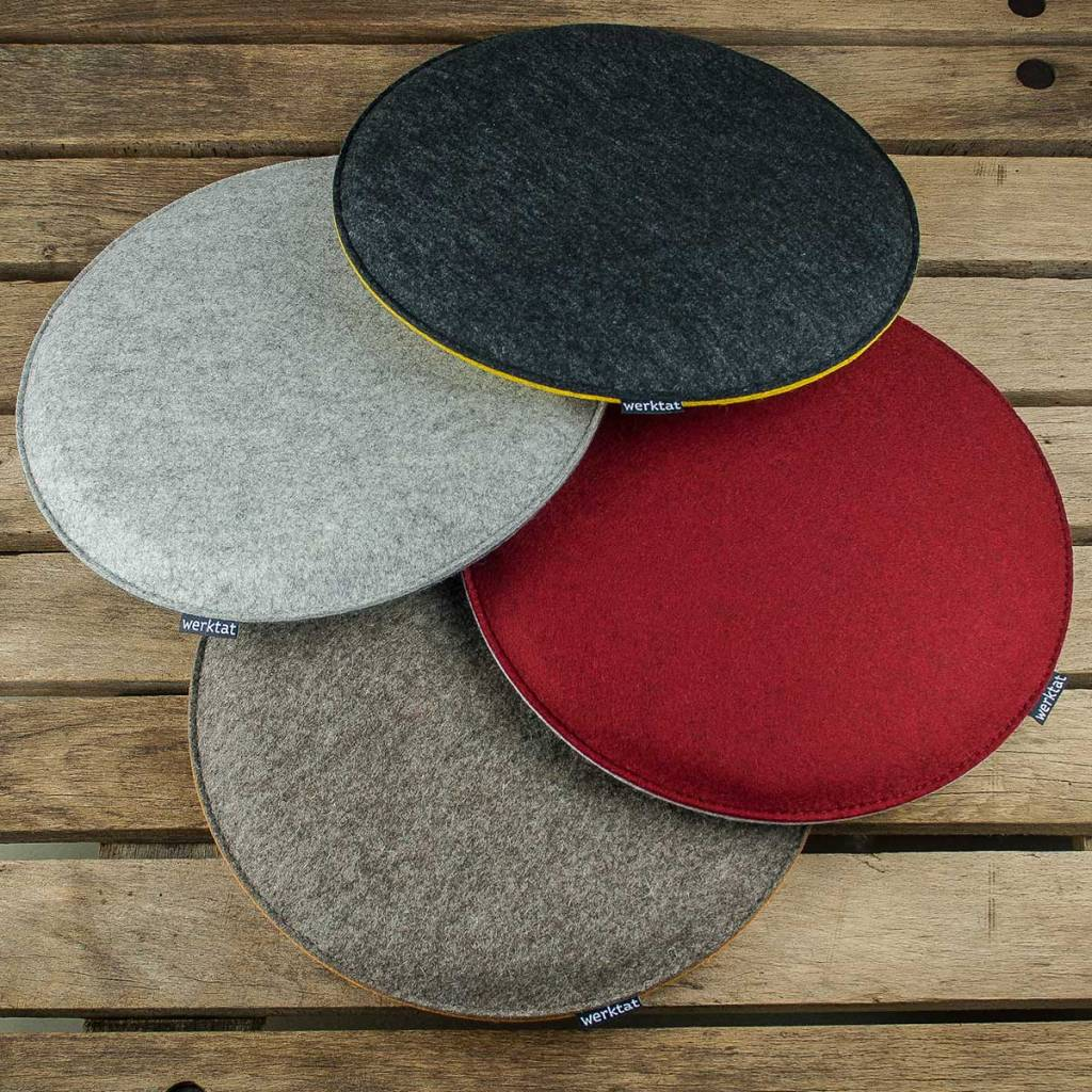 Felt Seat Cushions Padded Round Chair Cushions Bench Cousions Stuffed Upholstered 30cm 32 5cm 35cm 37 5cm 40cm