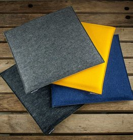 felt seat cushions padded, quadrat, chair cushions, bench cousions stuffed, upholstered 30cm 32,5cm 35cm 37,5cm 40cm