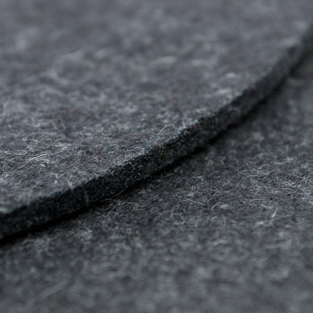 felt placemats round anthracite mixed