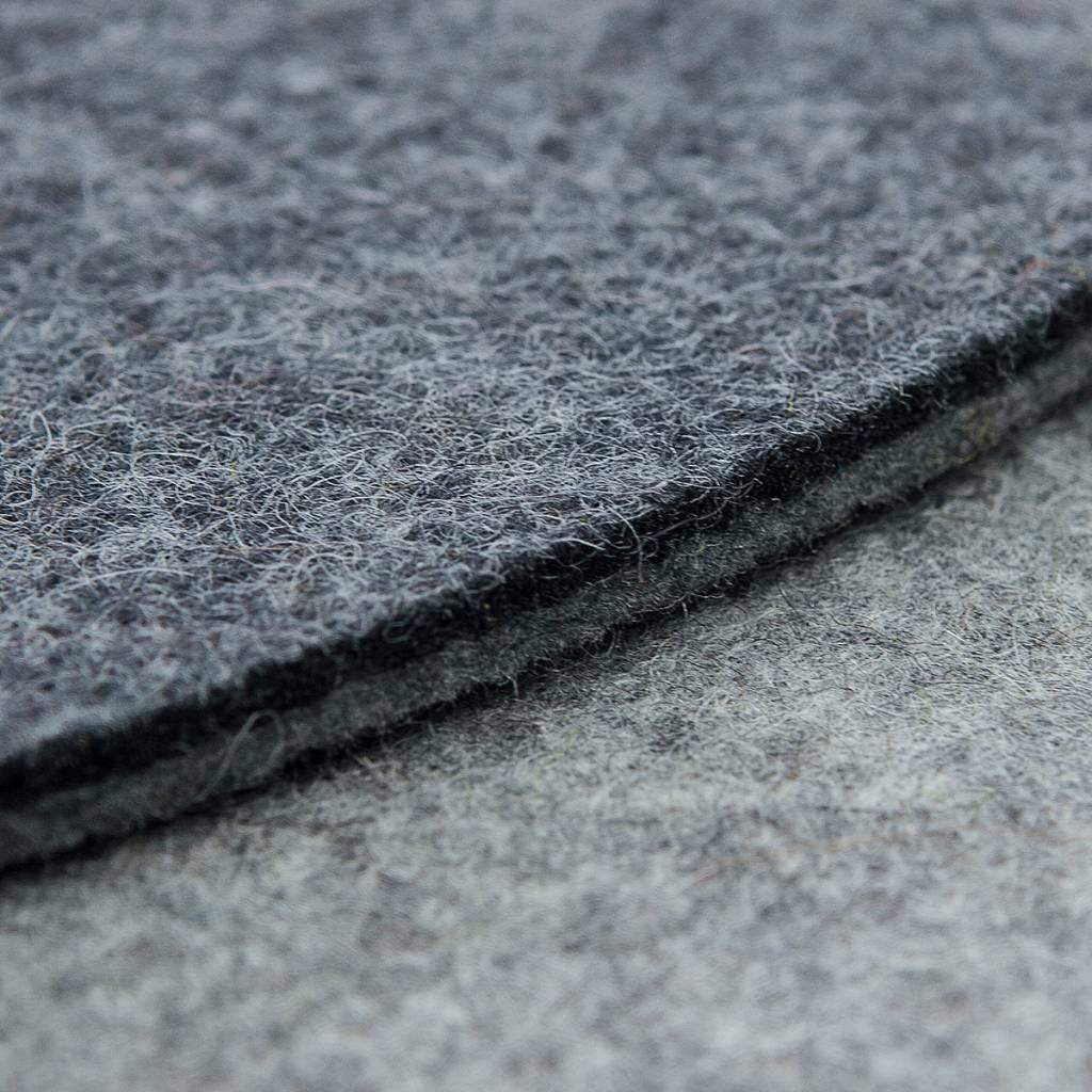 Filz Sitzauflagen rund bicolor grau