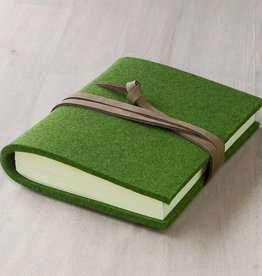 BLATTWERK notebook felt, grass green mixed