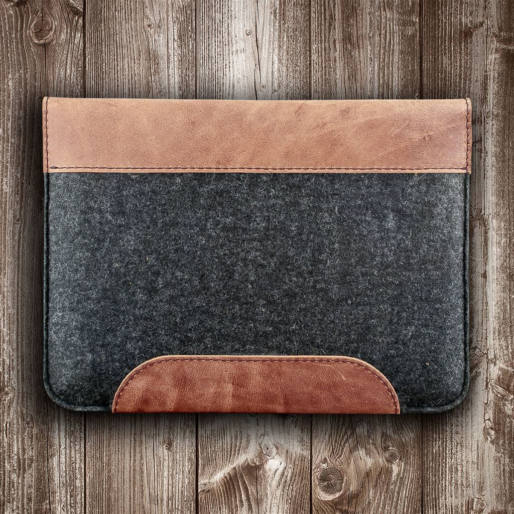 "MacBook Pro case leather felt sleeve ""Werkzeugtasche"" suitable crafted for MacBook Pro 13 15 12, Touch Bar"