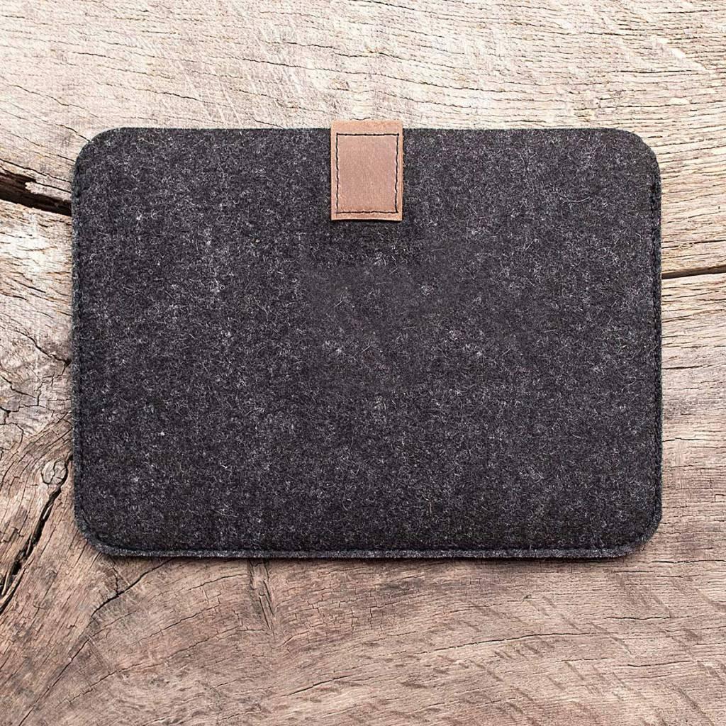 Surface Pro 6, 7, X, Laptop 3, Book 2, Go Tasche Leder Filz Hülle Ledertasche Filztasche FACHWERK passend gefertigt für Microsoft Surface