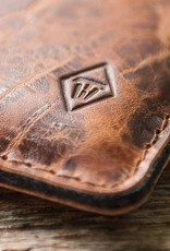 "iPhone 11, Pro, Max leather case, sleeve ""Katastophenschutz wild brown"" with felt lining"