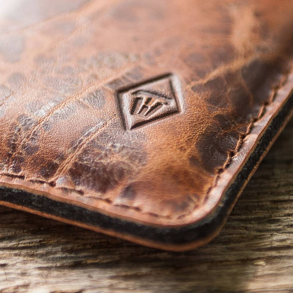 "iPhone Xs Max leather case sleeve felt, ""Katastophenschutz wild brown"" suitable crafted for your iPhone"
