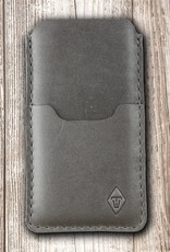 iPhone 12 11 Pro Max mini SE XR 8 leather sleeve gray with felt lining and insert pocket BASALT