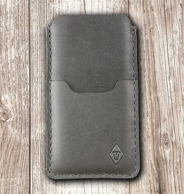 """Basalt"" iPhone Leather case, mobile phone sleeve made of leather with felt lining and insert pocket"