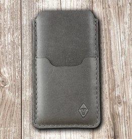"""""""Basalt"""" iPhone Ledertasche, Handyhülle aus Leder mit Filz Futter und Einstecktasche"""