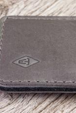 iPhone 13 12 11 Pro Max mini SE 8 Ledertasche grau mit Filz Futter und Einstecktasche BASALT
