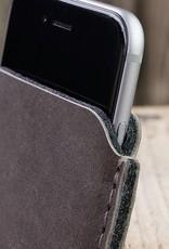 """werktat iPhone XR Leder Tasche Ledertasche edel, elegant """"Katastrophenschutz"""" in basalt grau passend gefertigt für iPhone"""