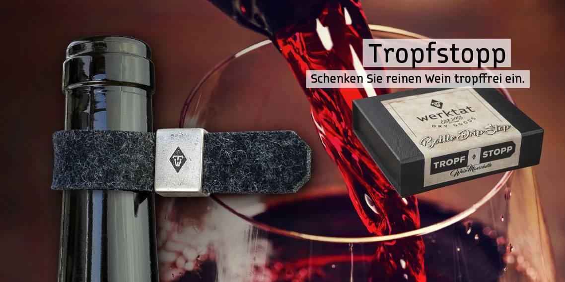 Tropfstopp-Weinmanschette