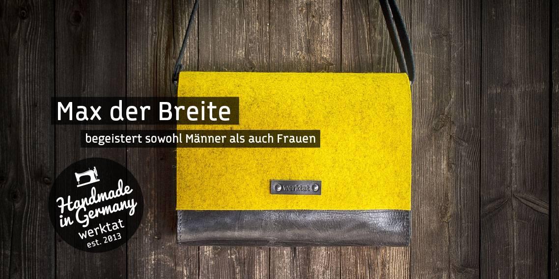 Leder Filz Tasche Messenger Bag Umhängetasche Ledertasche Filztasche