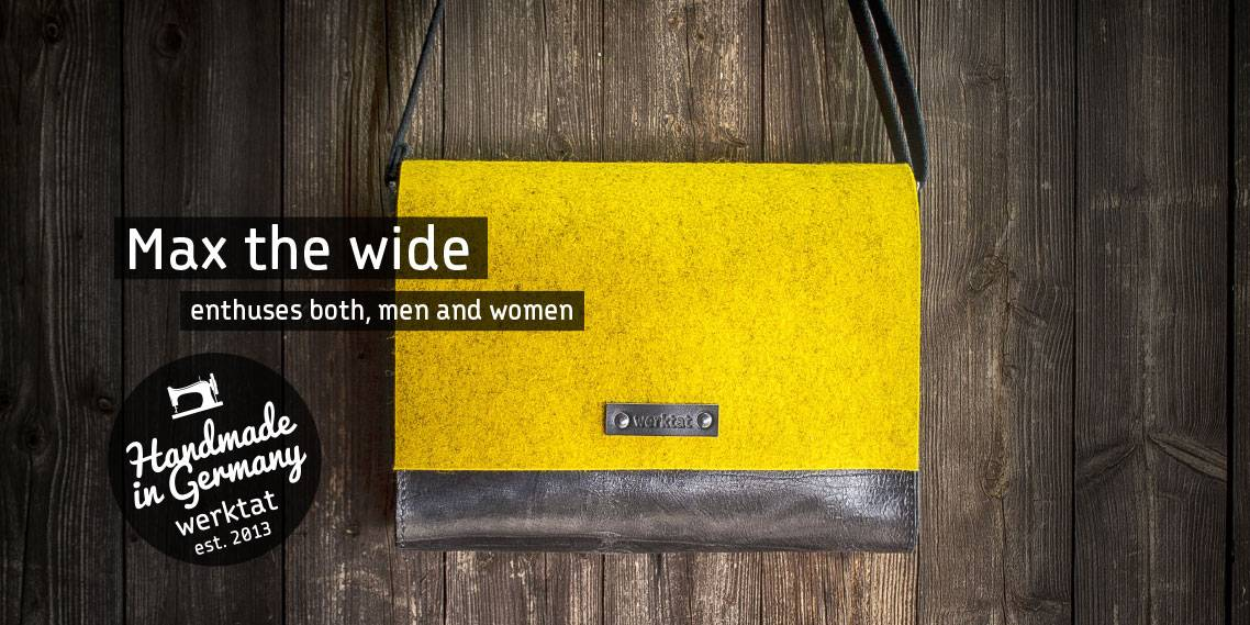 felt leather bag men women