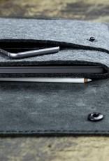 iPad Pro 11 12.9 Tasche Leder Filz Ledertasche SCHLIESSFACH passend gefertigt für iPad Pro