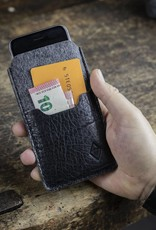 """case felt leather iPhone XR sleeve """"Smartwerk Tiefschwarz"""" suitably crafted for your iPhone"""