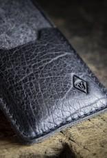 """Filzhülle Tasche Filz Leder iPhone XR Hülle Filztasche """"Smartwerk Tiefschwarz"""" passend gefertigt für iPhone"""
