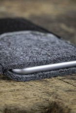 "case felt leather iPhone XR sleeve ""Smartwerk Tiefschwarz"" suitably crafted for your iPhone"