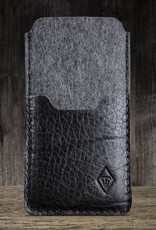 iPhone 11 Pro Max SE felt sleeve with leather compartment SCHUTZANZUG
