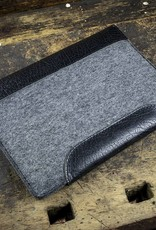 "MacBook Pro case leather felt sleeve ""Werkzeugtasche Tiefschwarz"" suitable crafted for MacBook Pro 13 15 12, Touch Bar"