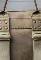 Leder Rucksack für Damen in mais-gelb: HUKKEPAKK