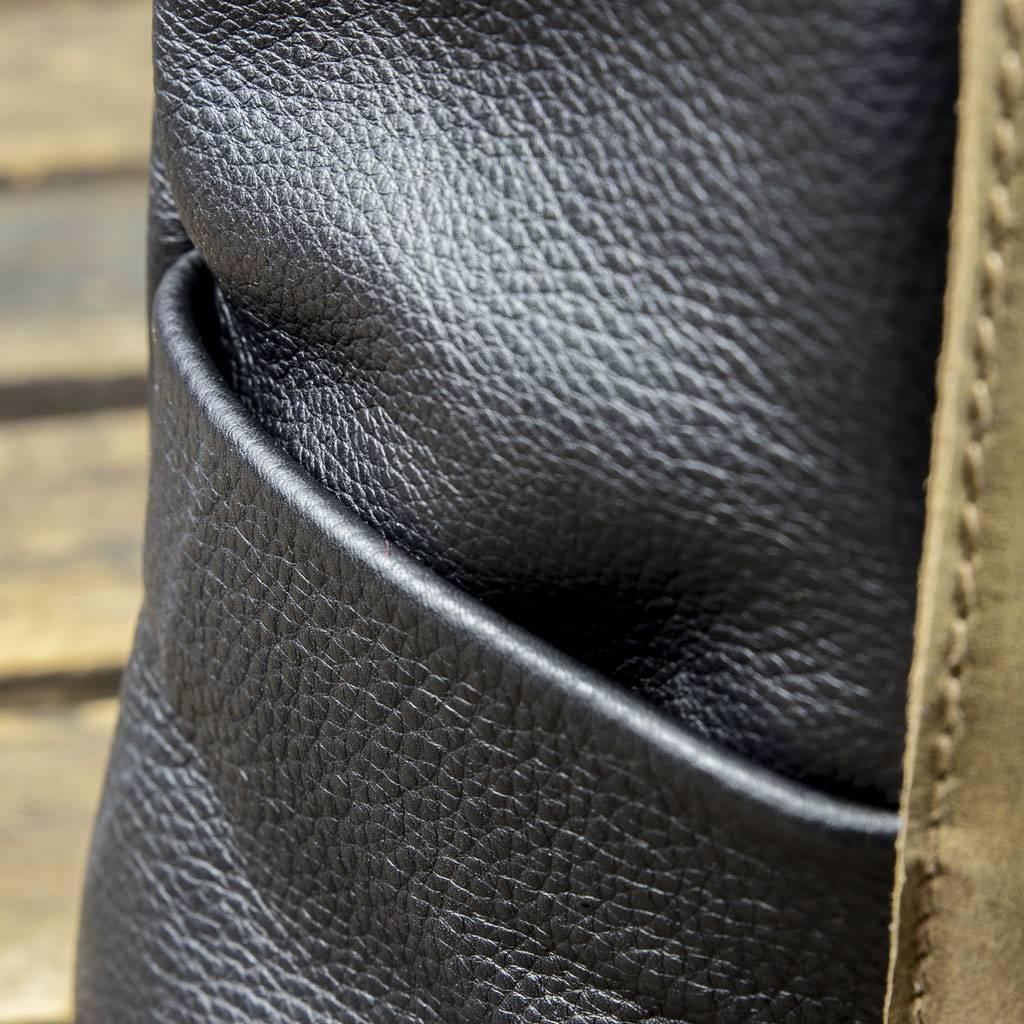170692522cc57 ... in schwarz Leder Rucksack für Damen