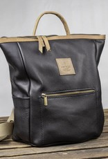 "Backpack leather for women ""HukkePakk"", in black"