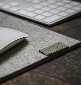 WOHLTAT mouse pad, mat felt gray mixed