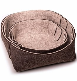 """Steckwerk Set"" small felt basket, set of 2"