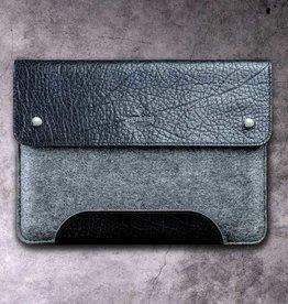 """""""Werkzeugtasche Tiefschwarz"""" für MacBook Pro Tasche Leder Filz Hülle"""