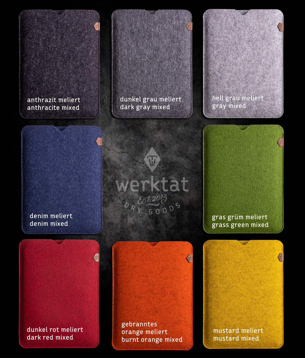 Surface Pro 7, X, Laptop 4, Book 3, Go 2 sleeve felt case SOFTWERK suitably crafted for Microsoft Surface