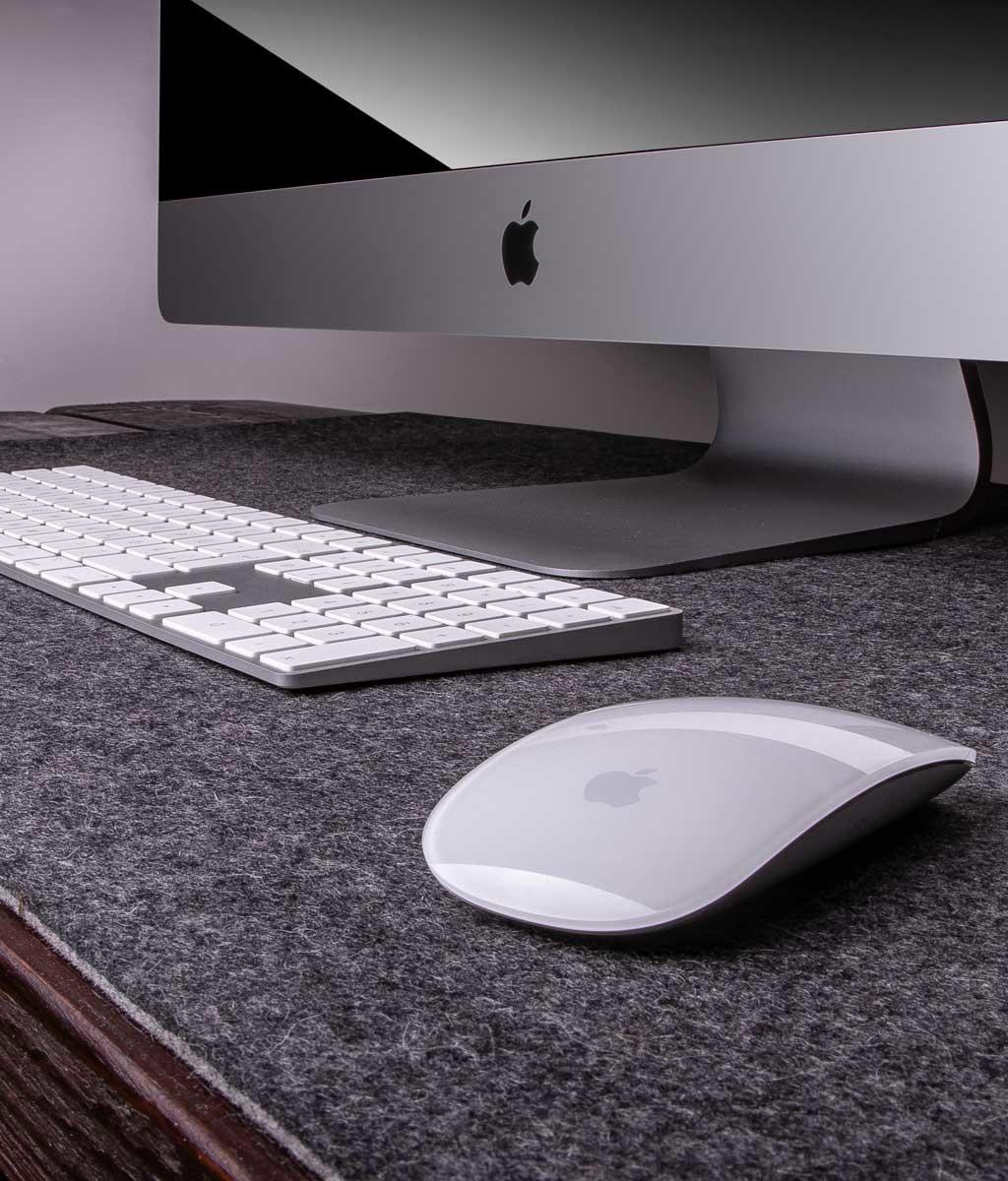 Filz Schreibtischauflage auf Maß, 5 mm, Schreibtischunterlage aus reiner Wolle
