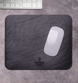 """""""Wohltat"""" Mousepad aus Leder schwarz"""
