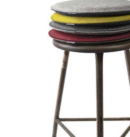 Filz Sitzkissen rund gepolstert, 100% Schurwolle