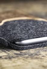 iPhone 13 Pro Max mini 12 11 SE 8 Filzhülle mit rustikalem, braunem Vintage-Leder SCHUTZGEHÄUSE