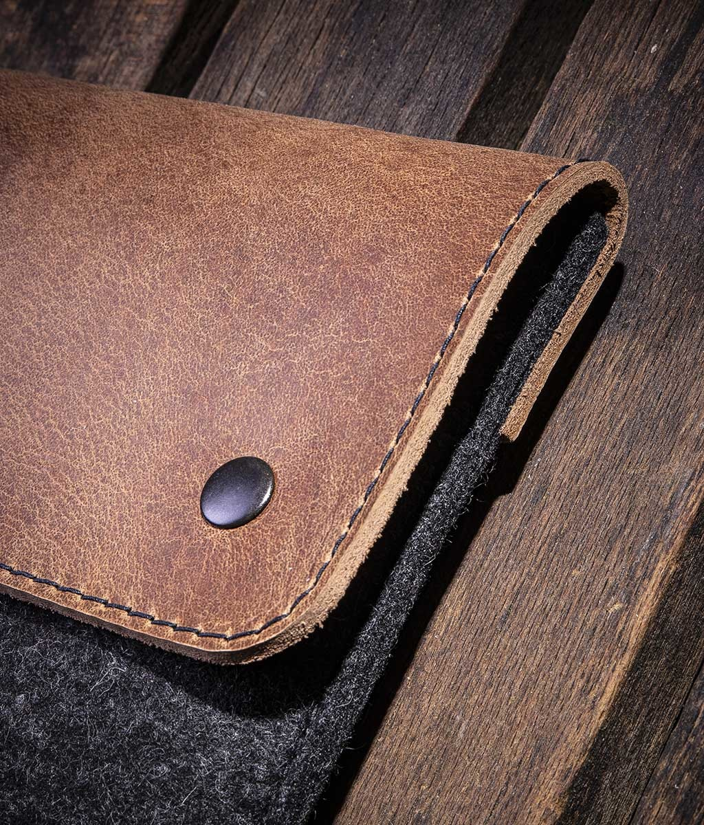 "iPad Pro 11 12.9 Air 10.5 10.2 case leather felt, sleeve ""Werkzeugtasche"""