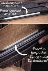 iPad Pro 11 12.9 Air 10.9 10.2 Hülle Leder Filz, Tasche WERKZEUGTASCHE