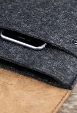 Surface Pro 6, 7, X, Laptop 3, Book 2, Go Tasche Leder Filz Hülle WERKZEUGTASCHE passend gefertigt für Microsoft Surface