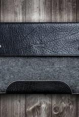 Surface Pro 7, X, Laptop 3, Book 3, Go 2 Tasche Leder Filz Ledertasche SCHLIESSFACH passend gefertigt für Microsoft Surface