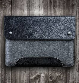 SCHLIESSFACH for Surface Pro 6, 7, X, Laptop 3, Book 2, Go case leather felt sleeve