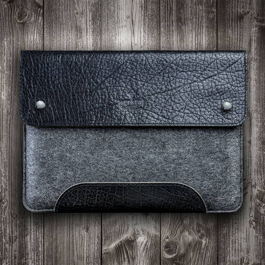 Surface Pro 6, 7, X, Laptop 3, Book 2, Go case leather felt sleeve SCHLIESSFACH suitable crafted for Microsoft Surface